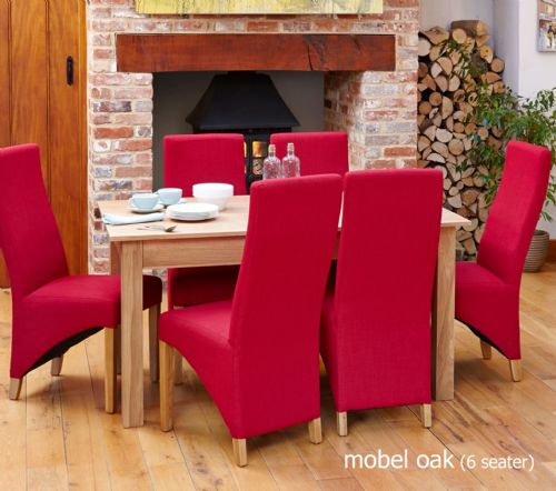 Mobel Oak Extending Dining Table and Chair Sets